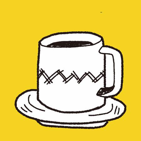 コーヒー カップの落書き