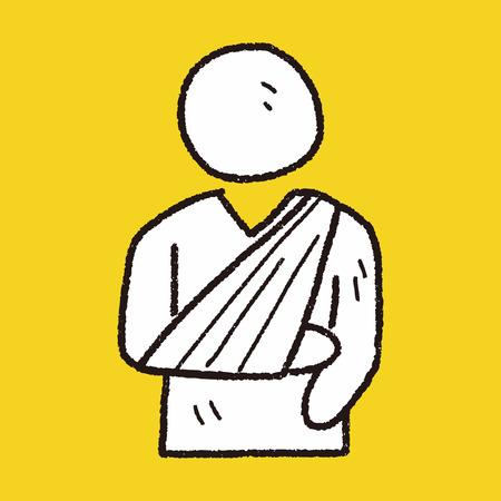 splint: Fracture hand doodle