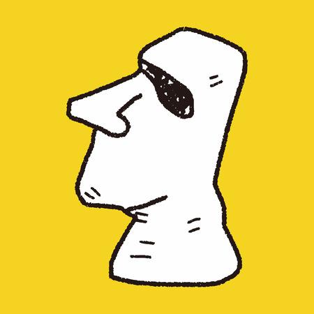 moai: moai doodle