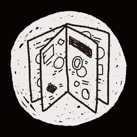 catalog: catalogus doodle Stock Illustratie