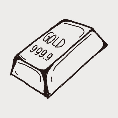 bullion doodle Ilustrace