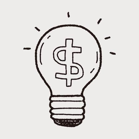 signo pesos: idea dinero garabato