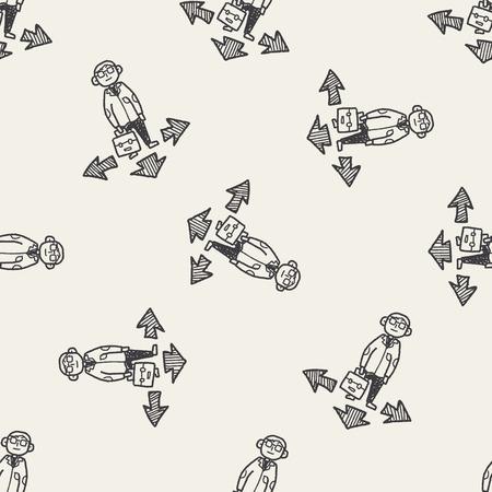 business way doodle Vector