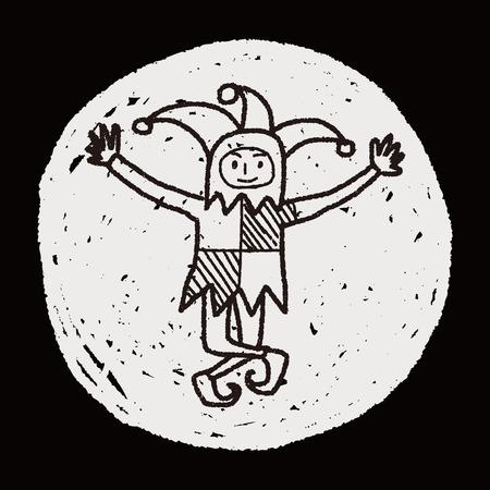 joker doodle Vector