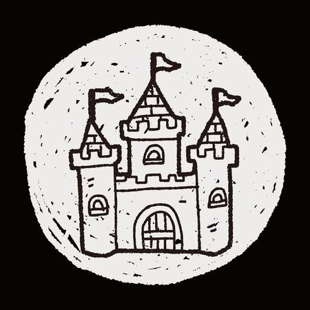 castle doodle Vector