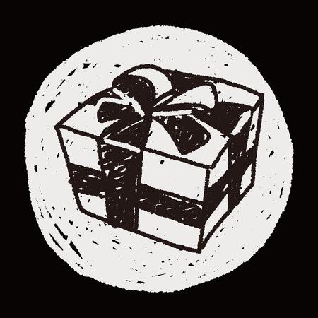 christmas gift: Christmas gift doodle