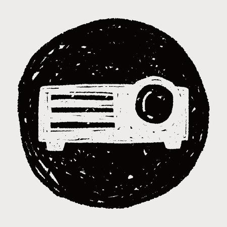 projector: projector doodle