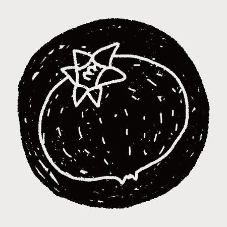 страсть: Плод страсти каракули Иллюстрация