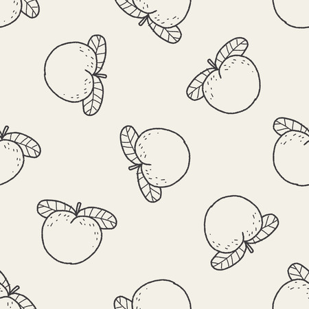 peach doodle seamless pattern background Vector