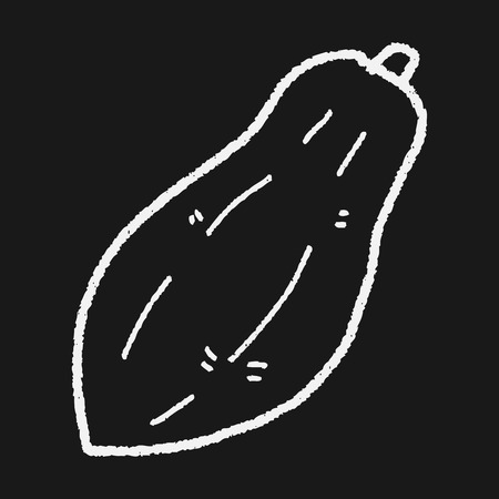 papaya: papaya doodle Illustration