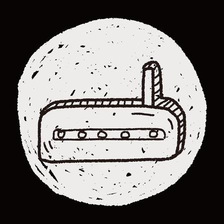 dsl: doodle modem Illustration