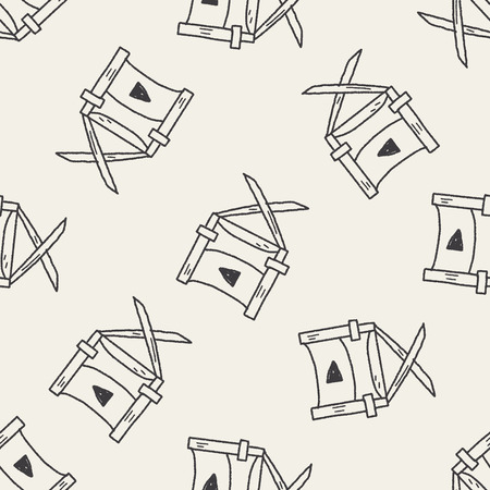 directors: Directors chair doodle seamless pattern background Illustration