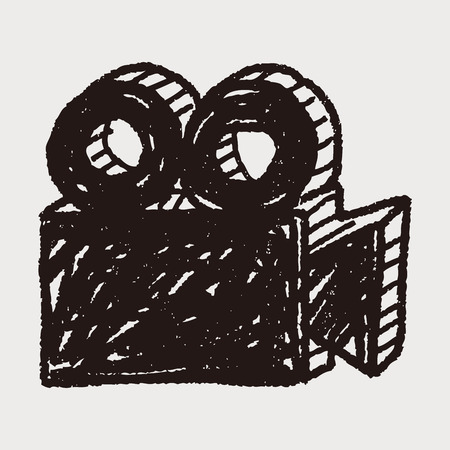 camera film: film camera doodle Illustration