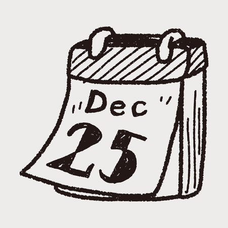 December calendar doodle