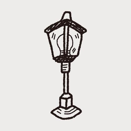уличный фонарь: уличный фонарь каракули