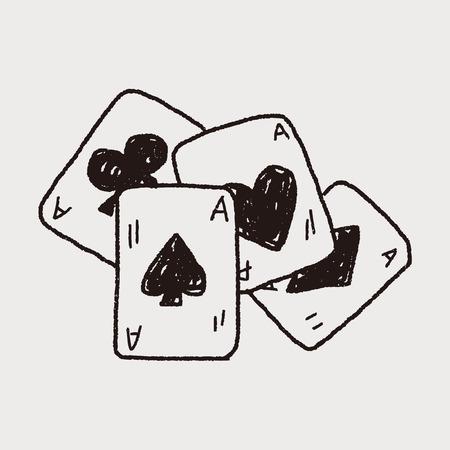 Doodle Poker Illustration