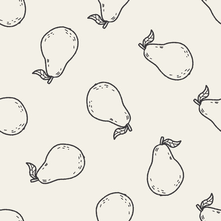 guava: guava doodle seamless pattern background