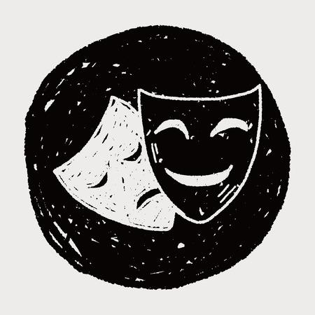 theatre masks: doodle mask