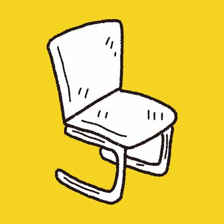 chair doodle Vector