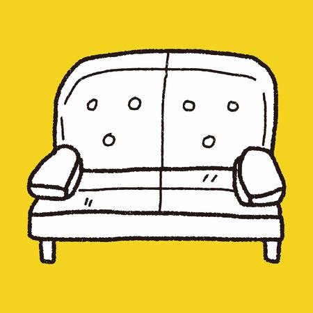 sofa doodle Vector