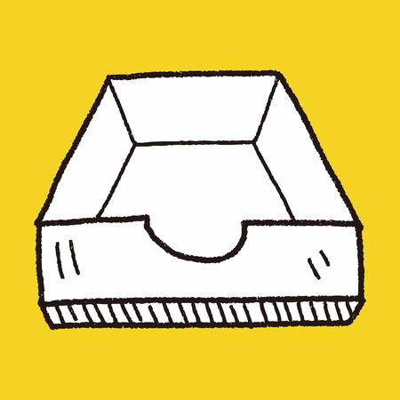 file box: file box doodle Illustration