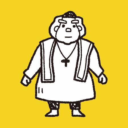 Bisschop doodle Stockfoto - 39855753