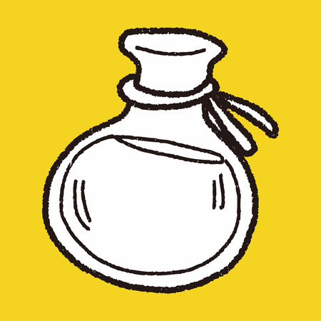pócima: Doodle poción Vectores