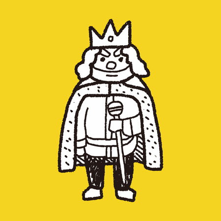 beard man: king doodle Illustration