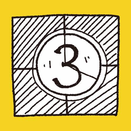 countdown: film countdown doodle