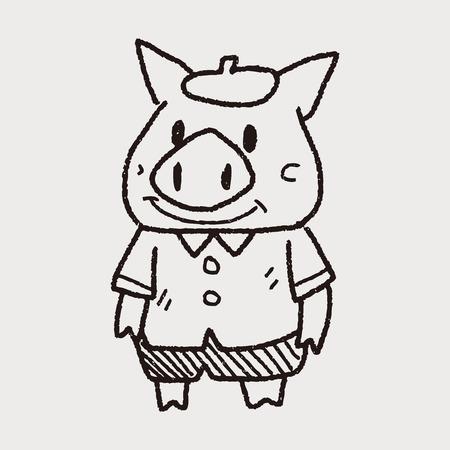 cerdos: tres cerditos del doodle