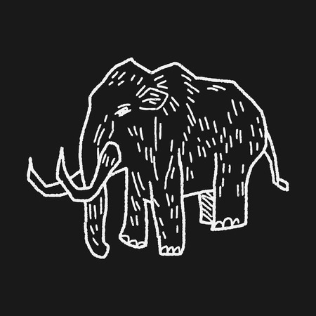 prehistoric age: Mammoth doodle Illustration