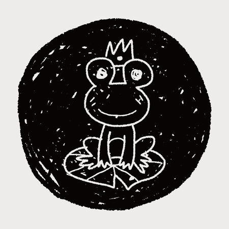 principe rana: doodle de pr�ncipe rana Vectores