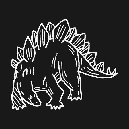 stegosaurus: Stegosaurus dinosaur doodle