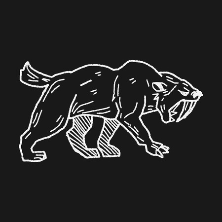 saber tooth: Smilodon doodle