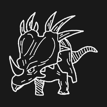 triceratops: Triceratops dinosaur doodle
