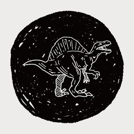 spinosaurus: Spinosaurus dinosaur doodle