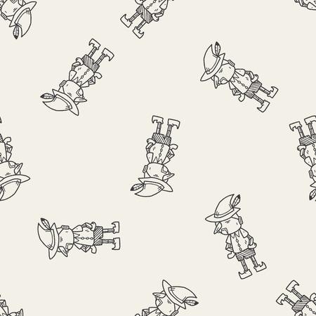pinocchio: pinocchio doodle seamless pattern background