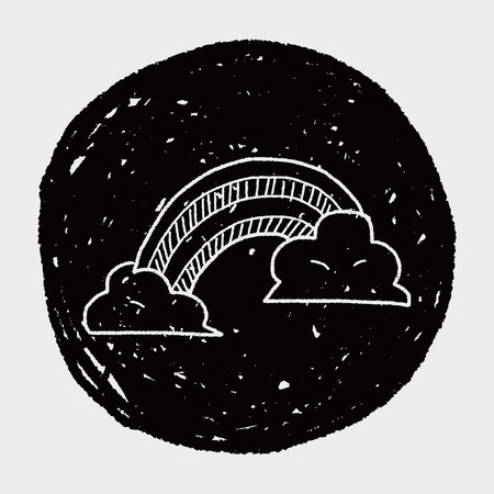 szivárvány: szivárvány doodle
