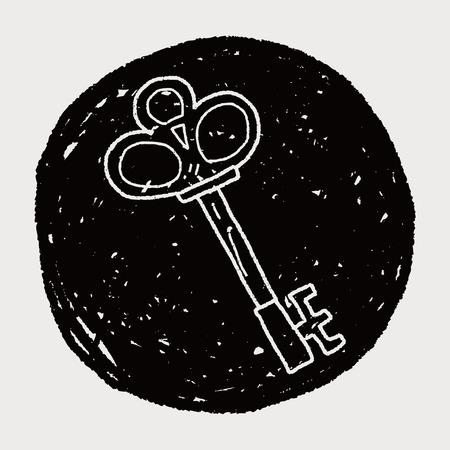oude sleutel: oude sleutel doodle