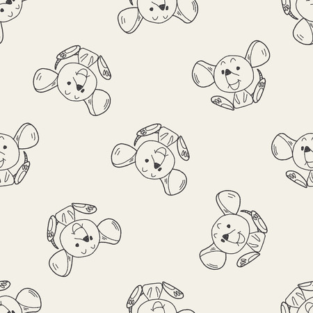 mouse trap: Chinese Zodiac mouse doodle drawing seamless pattern background