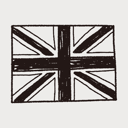union flag: UK flag doodle