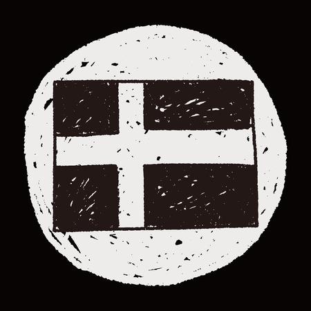 schweden flagge: Schweden-Flaggen-Gekritzel