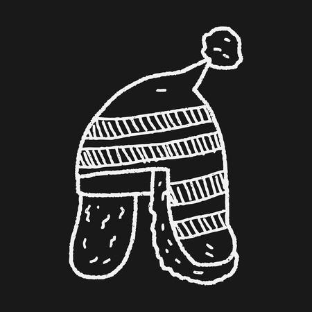 winter hat doodle Vector