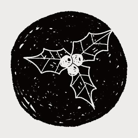 poinsettia: Poinsettia doodle drawing
