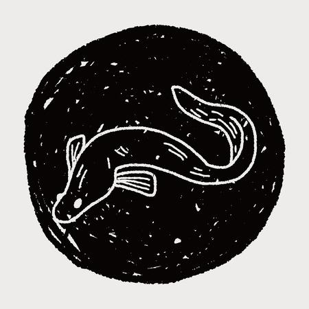 eel: Eel doodle Illustration