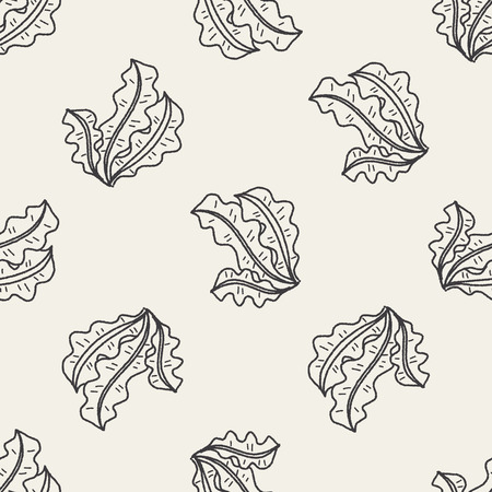 alga marina: Doodle Kelp fondo sin patr�n