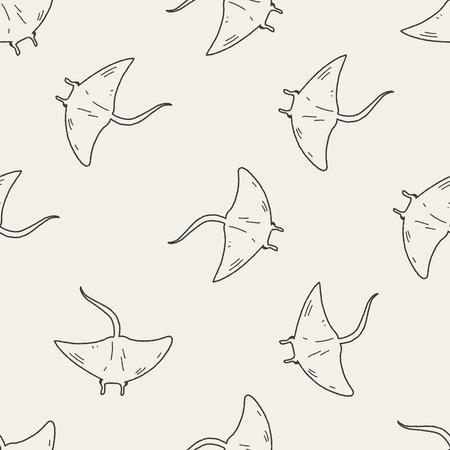 stingrays: Stingray doodle seamless pattern background