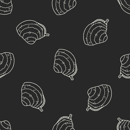clam: clam doodle seamless pattern background