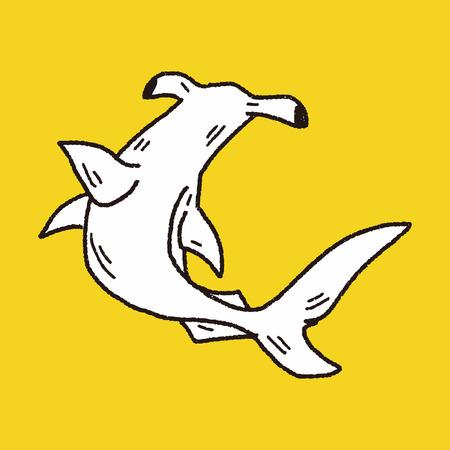 hammerhead shark: Hammerhead shark doodle