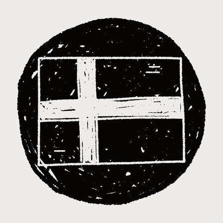 bandera de finlandia: Finlandia bandera del doodle